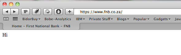 FNB broken website