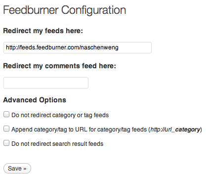 WordPress plugin - Feedburner