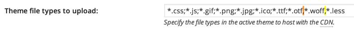 W3TC font misconfiguration error