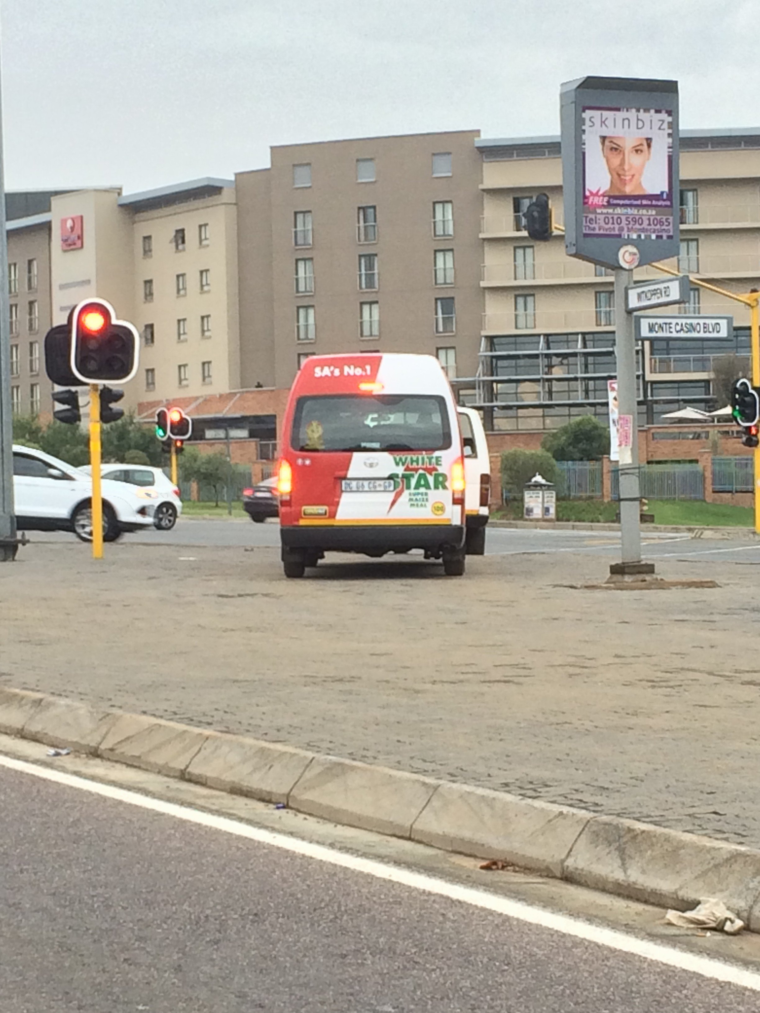 White Star branded taxi violates traffic rules at Monte Casino