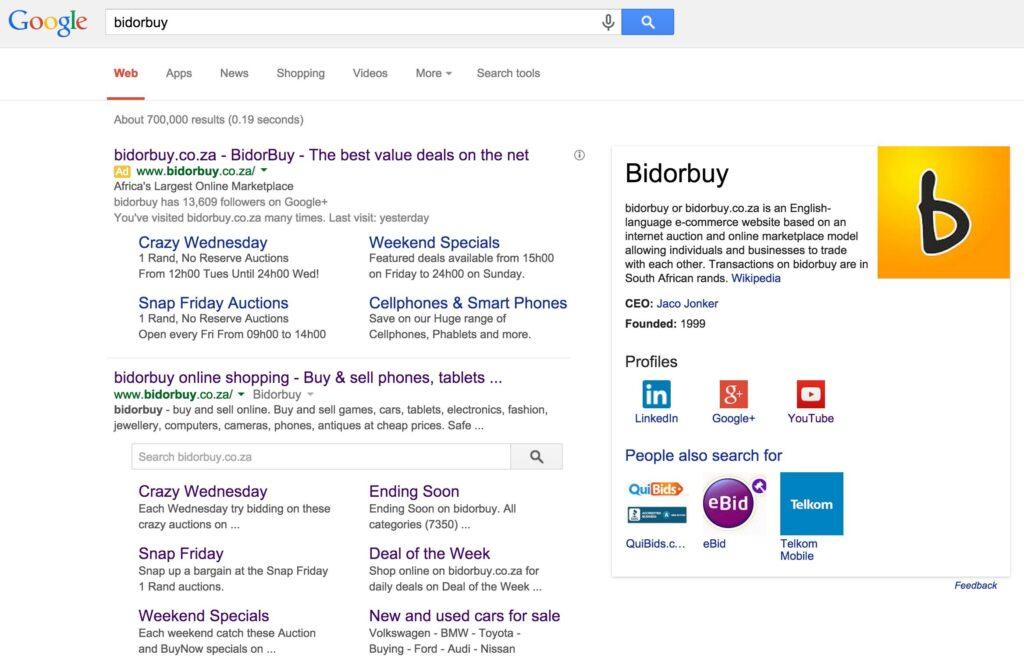 Google Sitelink Search Box