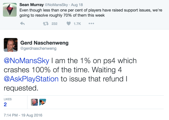 requesting a refund for no man s sky will get your psn account