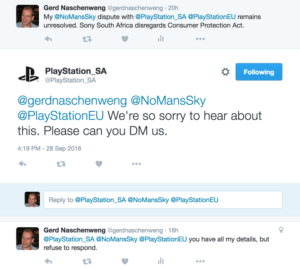 Sony South Africa pretends to not know about my No Man's Sky refund request