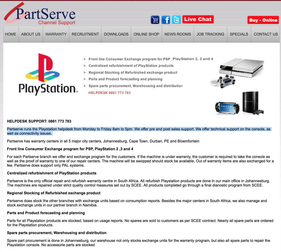 Playstation South Africa does not honor Consumer Protection