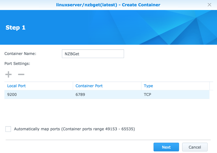 Run NZBGet via Docker on Synology DSM 6 0 | naschenweng info
