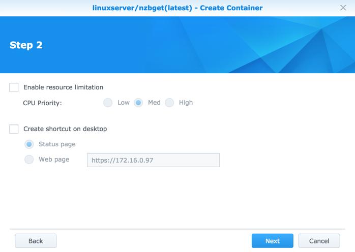 Run NZBGet via Docker on Synology DSM 6 0   naschenweng info