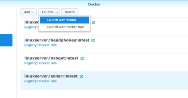 Run Sonarr via Docker on Synology DSM 6 0 | naschenweng info