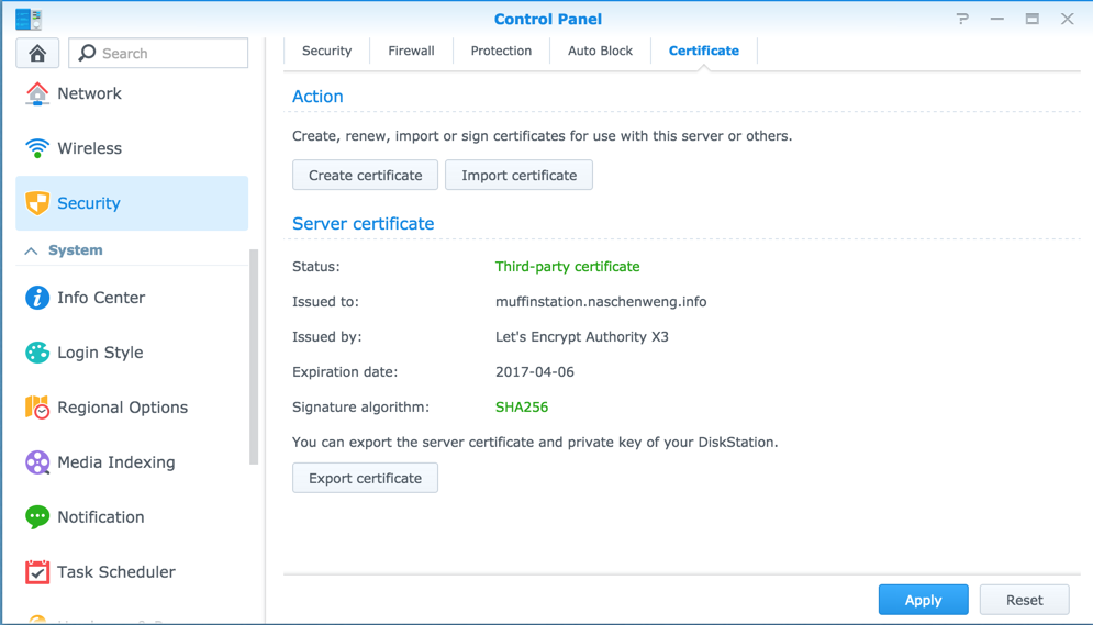 Automatic Ssl Renewal With Lets Encrypt On Dsm 5x Synology