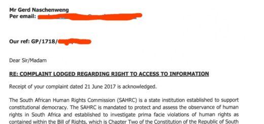 MyBroadband.co.za declines PAIA request, SAHRC investigates.