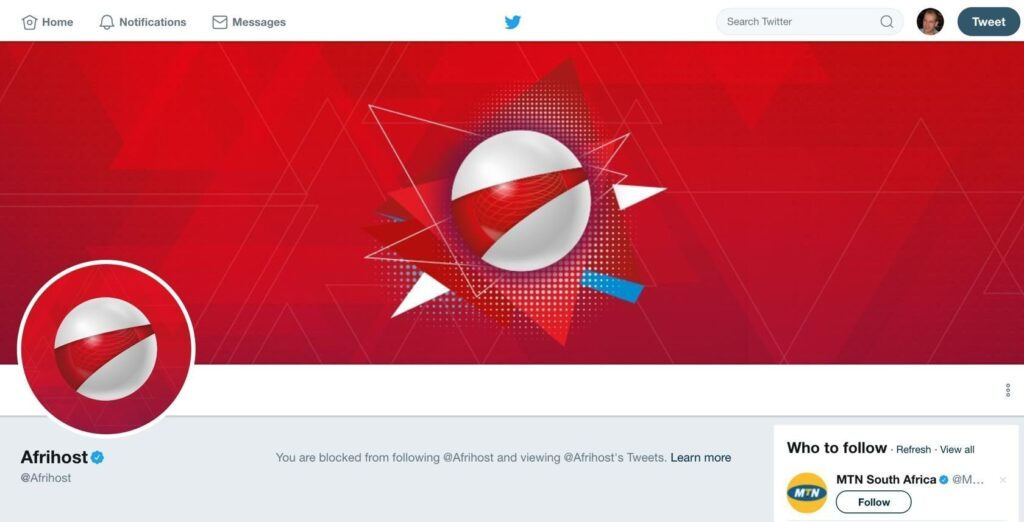 Afrihost will block you on Twitter to protect their nd ... on